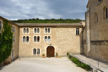 vaucluse: Provence. An ancient monastery Abbaye Notre-Dame de Senanque ( Abbey of Senanque) at early morning. Vaucluse, France