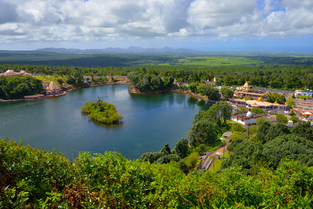 View from above at Grand bassin lake, Mauritius