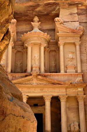 treasury: Al Khazneh or The Treasury at Petra Jordan