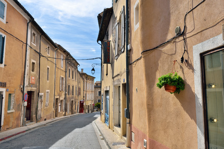 cited: BONNIEUX FRANCE JUL November 2014: View on the street of the beautiful medieval village of Bonnieux. Bonnieux village is included in list of