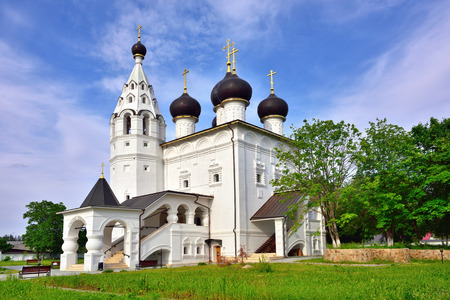spassky: Russia Moscow region city of Vereya. Spassky orthodox Monastery. Church of the Entry of the Lord into Jerusalem in the Red village. Classical russian medieval architecture. 1667