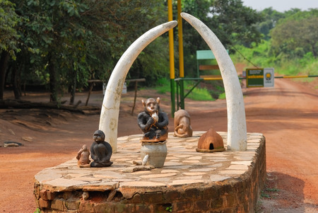elisabeth: Entrance in the most known national park of Uganda QUEEN ELISABETH NATIONAL PARK