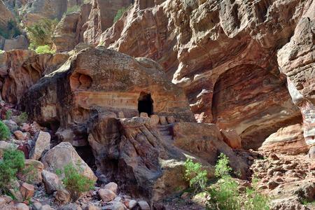 past civilization: Petra archeological site -