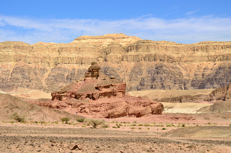 timna: Beautiful landscape of the Timna park, Negev desert, Israel Stock Photo