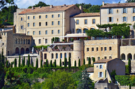 cited: Beautiful Medieval Village of Gordes at evening time, Provence, France