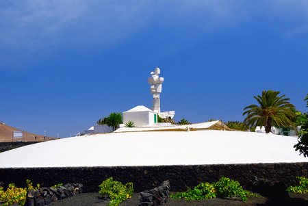 manrique: EL CAMPESINO, LANZAROTE - JUN 21, 2008: The Monumento al Campesino erected by the artist Cesar Manrique in the year 1986 is a memorial in honour of the hard working peasant farmers of Lanzarote