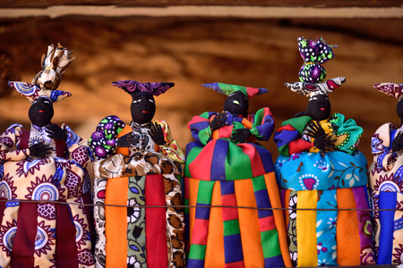 Herero dolls - popular handmade souvenir in Namibia