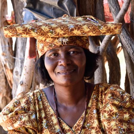 south american ethnicity: Herero woman portrait, Namibia