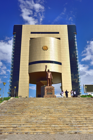 samuel: WINDHOEK, NAMIBIA - FEB 5, 2016: Independence Museum in Windhoek, Namibia, Africa built after independence in 1990 Editorial