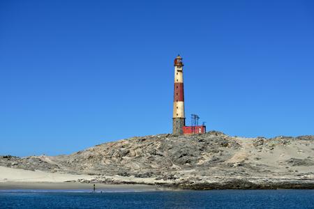 luderitz: Lighthouse in the Luderitz harbor, Namibia, Africa