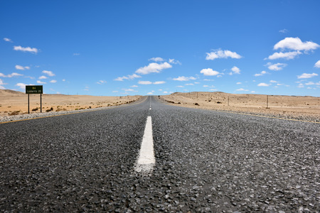 luderitz: A newly tarred road to Luderitz in the Namib desert, Namibia, Africa