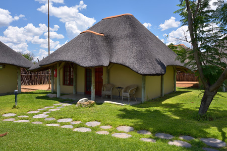 frans: WATERBERG, NAMIBIA - FEB 04, 2016: Accommodation units in Frans Indongo Lodge, one from the most famous and popular place in Waterberg region to stay and relax during safari