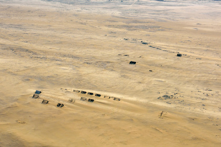 namib: View from above on the abandoned diamond mines in the Namib Desert, Namibia, Africa