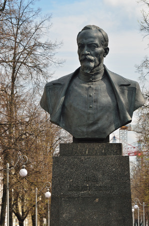 felix: MINSK, BELARUS - MAY 2, 2016: Felix Dzerzhinsky monument in city boulevard.  Dzerzhinsky is best known for establishing and developing the Soviet secret police forces predecessor KGB Editorial
