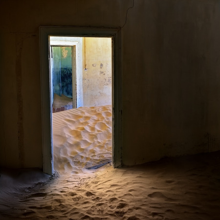 kolmannskuppe: The abandoned ghost diamond town of Kolmanskop in Namibia, which is slowly being swallowed by the desert. Africa