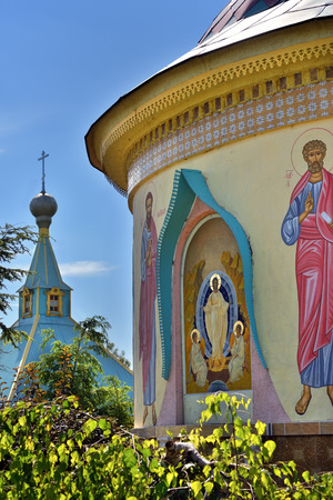 eclecticism: St. Paraskeva-Pyatnitsa monastery. Built in 1867. Typical masterpiece of old russian orthodoxy eclecticism architecture in Dedilovo village founded in 1146, central region of Russia. Paraskeva Church.