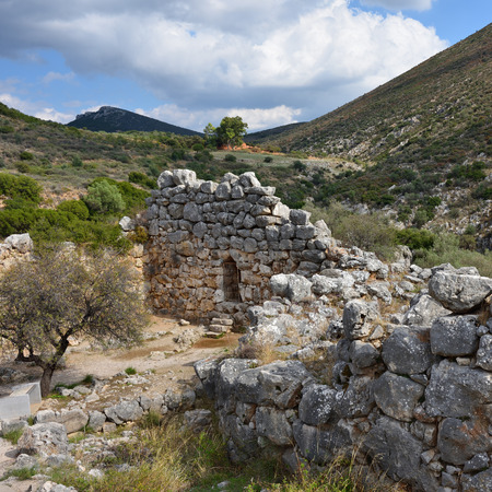 archaeological sites: The archaeological sites of Mycenae and Tiryns Stock Photo