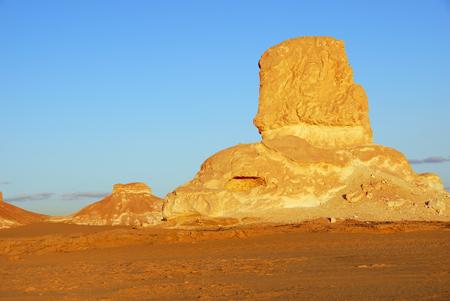 Landscape of the White Desert at sunset, Sahara, Egypt