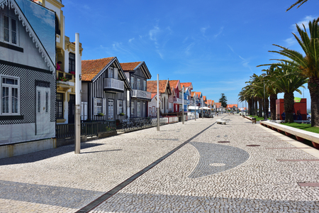 Famous resort on the Atlantic coast in Beira Litoral, Portugal. Popular tourist destination to spend vacation time