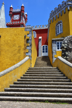 Inside of Pena National Palace in Sintra in Portugal.