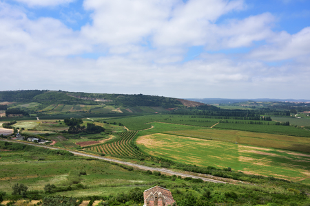 portugal agriculture: Stunning countryside landscape nearby Obidos, Portugal