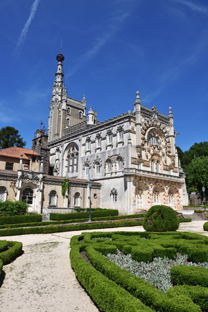 Medieval Bussaco Palace near Luso in Portugal. Palace built in 1628 as a convent