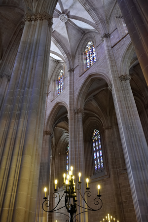 parish: Interior of the Monastery of Batalha is a Dominican convent in the civil parish of Batalha, Portugal. Originally known as the Monastery of Saint Mary of the Victory Editorial