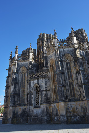 Monastery of Santa Maria da Vitoria or da Batalha Monastery. One of the most beautiful works of Portuguese Gothic architecture Stock Photo