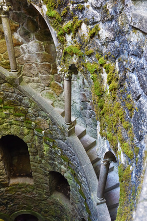 The Initiation well in the Quinta da Regaleira, Sintra, Portugal Stock Photo