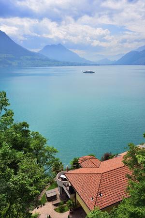 Beautiful view on the lake Luzerne, Switzerland