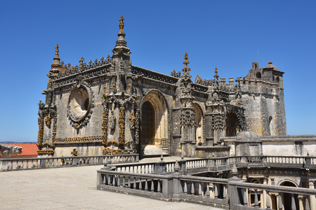 helical: Top of Dom Joao III Cloister (Renaissance masterpiece) in the Templar Convent of Christ in Tomar, Portugal. Editorial