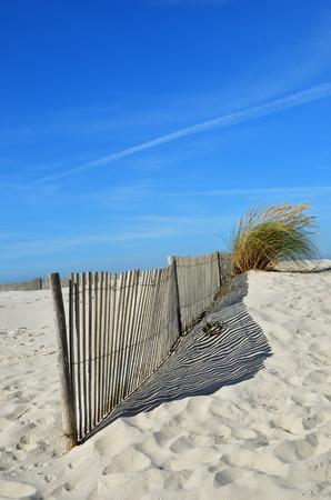Sand dunes at Costa Nova, a famous beach near Aveiro, Centro, Portugal Stock Photo
