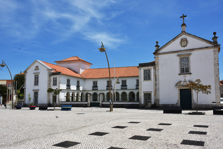 Square Marques Pombal in Aveiro. One from the most tourist destination city in Portugal