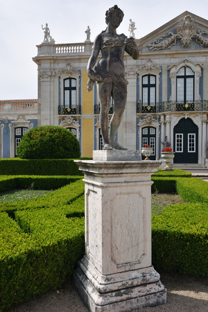 Queluz, Portugal   June 3, 2017: Neptune Gardens, Sculpture The Spring By