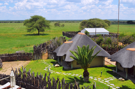 frans: WATERBERG, NAMIBIA - FEB 04, 2016: Accommodation units in Frans Indongo Lodge, one from the most famous and popular place in Waterberg region to stay and relax