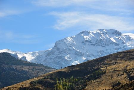 Anatolia beautiful landscape. View on the snow covered Taurus mountains. Turkey