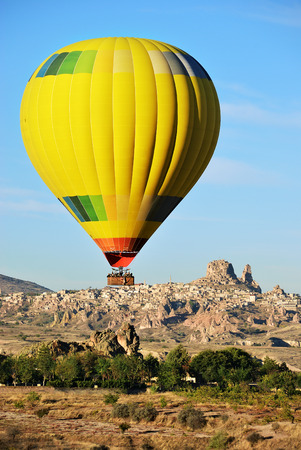Hot air balloon flight over Cappadocia - balloon flight. Cappadocia is known around the world as one of the best places to fly with hot air balloons. Goreme. Turkey Фото со стока