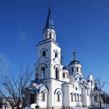 Winter view on the Church of the Holy Equal-to-the-Apostles Prince Vladimir, Vladimir Church, Voronezh. Russia