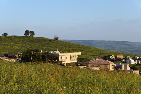 Israeli settlements on the shores of Lake Kinneret in the Galilee. Israel Stock Photo
