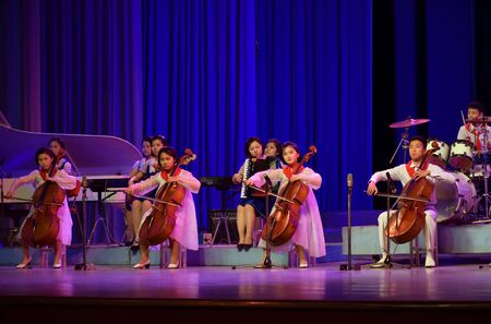 Pyongyang, North Korea - May 2, 2019: Children's gala concert in the Mangyongdae School Children's Palace. Extracurricular educational institution in Pyongyang Banque d'images - 137811706