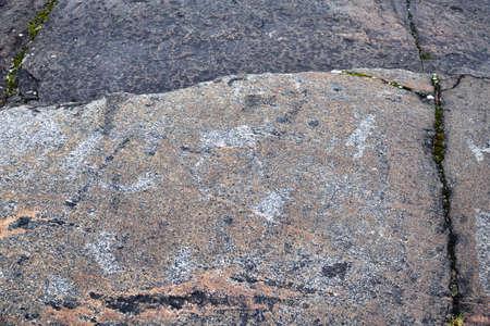 White Sea petroglyphs (ancient rock paintings) in Zalavruga, 4,5 thousand years BC. Belomorsk, Karelia, Russia