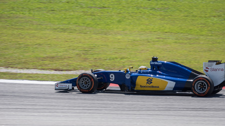 ericsson: SEPANG - MARCH 27: Marcus Ericsson of Sauber F1 Team at 2015 Formula 1 Petronas Malaysia Grand Prix First Practice Session at Sepang circuit on March 27, 2015 in Sepang, Malaysia.