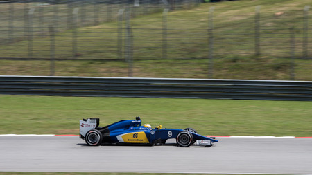 ericsson: SEPANG - MARCH 27: Marcus Ericsson of Sauber F1 Team at 2015 Formula 1 Petronas Malaysia Grand Prix Second Practice Session at Sepang circuit on March 27, 2015 in Sepang, Malaysia.