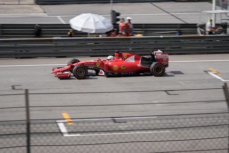 vettel: SEPANG  MARCH 29: Sebastian Vettel of Scuderia Ferrari at 2015 Formula 1 Petronas Malaysia Grand Prix Race Day at Sepang circuit on March 29 2015 in Sepang Malaysia.