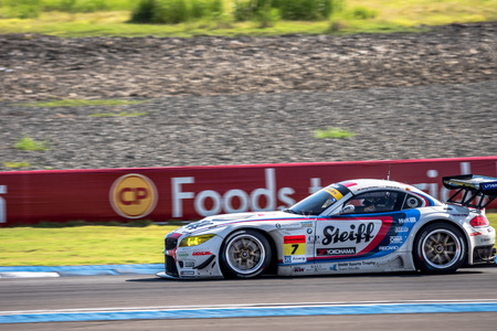BURIRUM, THAILAND - JUNE 20 : Seiji Ara of BMW Sports Trophy Team Studie in GT300 Qualiflying Category at 2015 AUTOBACS SUPER GT Round 3 BURIRAM SUPER GT RACE on June 20, 2015 in Burirum, Thailand.