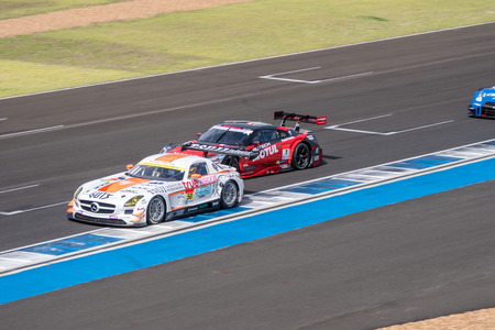 buriram: BURIRUM, THAILAND - JUNE 21 : Super GT Final Race 66 Laps at 2015 AUTOBACS SUPER GT Round 3 BURIRAM SUPER GT RACE on June 21, 2015 in Burirum, Thailand.