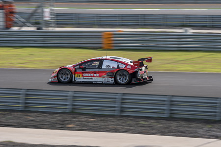 laps: BURIRUM, THAILAND - JUNE 21 : Yuichi Nakayama of apr in Super GT Final Race 66 Laps at 2015 AUTOBACS SUPER GT Round 3 BURIRAM SUPER GT RACE on June 21, 2015 in Burirum, Thailand. Editorial