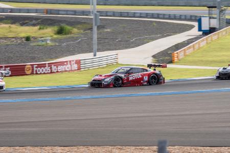 gt: Burirum, Thailandia - 21 giugno: Tsugio Matsuda di NISMO in Super GT gara 66 giri a 2015 Autobacs SUPER GT Round 3 Buriram SUPER GT RACE il 21 giugno 2015 a Burirum, Thailandia.