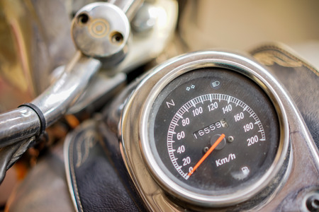 Stock Photo - Detail of a speedometer of a motorcycle
