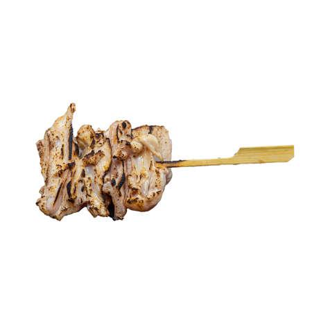 Yakitori Yagen Nankotsu is Chicken Cartilage Izakaya Style a Popular Japanese Food on White Background
